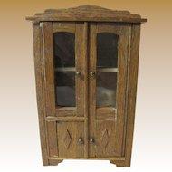 Early German Oak Linen or Storage Cabinet