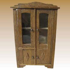Early German Oak Linen or Storage Cabinet