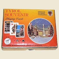 Piatnik Playing Cards Double Deck Tyrol Souvenir 1980 Face Cards Famous People, Made in Austria, No 2130