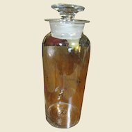"""Spectacular Large 12"""" Antique 19th Century Apothecary Bottle with Stopper"""