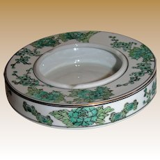 GoldImari Hand Painted Ashtray, Made in Japan, Mint