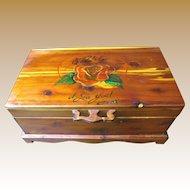 "Primitive Folk Art Work or Trinket Box, ""Pumpkin, I Love You! Sam"""