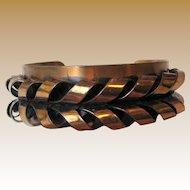 Signed Renoir Modernist Copper Cuff Bracelet