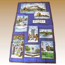 Large Sidney Australia Tourist Tea Towel, Mint