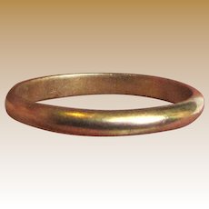 14k Domed Wedding Band, Size 6, 2 grams