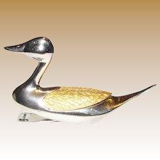 Rexel Bambi Lucky Duck Stapler w/, Rhodium & 24 kt Gold Plate, Original Box w/ Staples