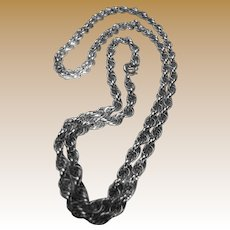 "20"" Sterling Twisted Rope Chain Necklace, Elegant"