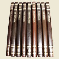 """Nine Time Life Books """"The Old West"""" Leatherette, US Frontier History, Pristine"""