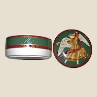 Mikasa Christmas Porcelain Lidded Trinket Box