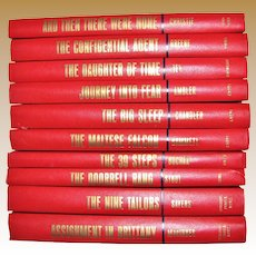 Ten volumes.Set - Journey into Fear, The 39 Steps, And Then There Were None, The Maltese Falcon, The Nine Tailors, The Doorbell Rang, The Confidential Agent, The Big Sleep, Assignment in Brittany, The Daughter of Time. (Great Mystery Books) HC