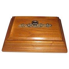Elegant Oak Trinket or Jewel Box, Sturdy, Near Mint