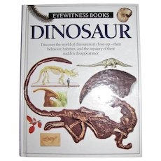 Dinosaur - Eyewitness Books, HC, 1989 1st American Edition, Children's Book, Like New