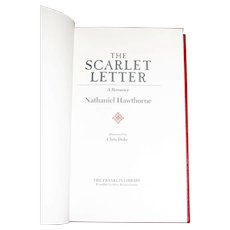 The Scarlet Letter by Nathaniel Hawthorne, Illustrated by Chris Duke, The Franklin Library, Hard Cover, Like New
