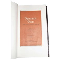 Romantic Poets - William Blake to Edgar Allan Poe, The Franklin Library, Leatherette, Like New