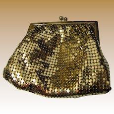 Whiting & Davis Gold Diamond Mesh Coin Purse