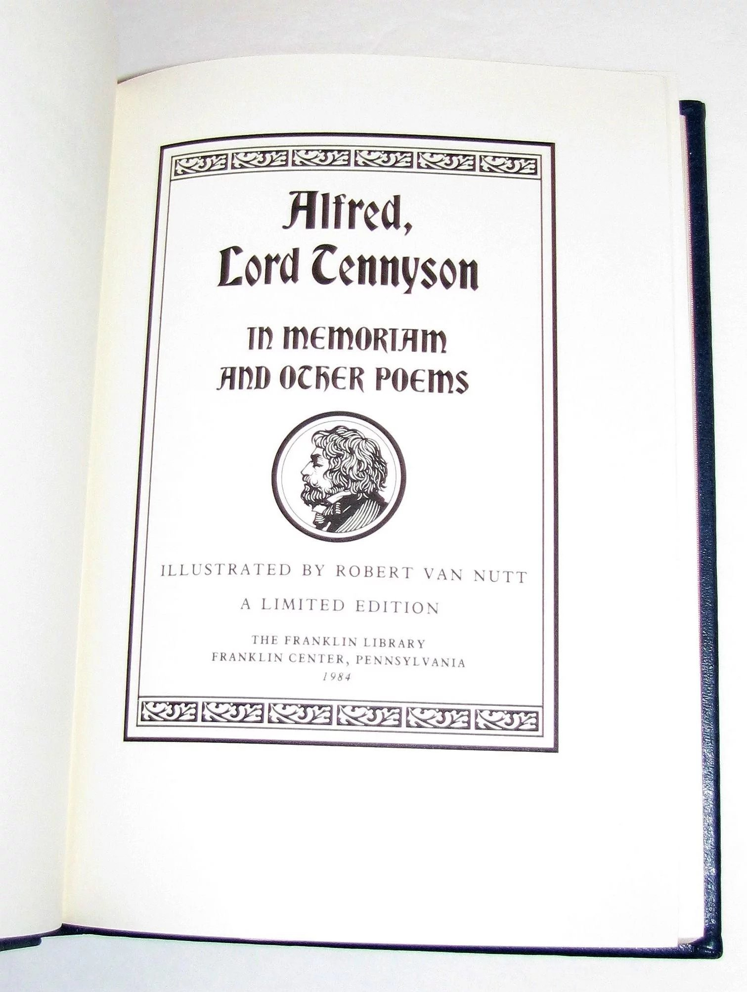 """Alfred Lord Tennyson, """"In Memoriam and Other Poems ..."""
