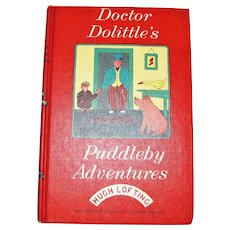 Doctor Dolittle's Puddleby Adventures by Hugh Lofting, HC, 1952, Illustrated Children's Book, Ideal for 5th-8th Grade