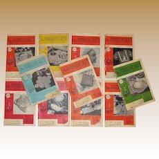 1950's, The Workbasket Needlecraft Magazines 11 Issues