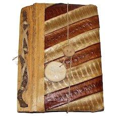"Artisan Snake Skin Journal w/ Hand Made Paper, 5"" x 7"""