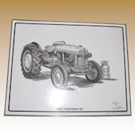 """1946 Ford Model NZ Tractor Print by Artist Dale Adkins, Laminated 11"""" x 14"""""""