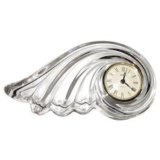 Mikasa Crystal Quartz Desk or Mantle Clock, Clearwater Wave