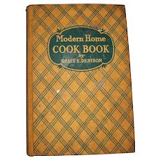 1938, Modern Home Cook Book by Grace E Denison, 2nd Edition, Hardcover