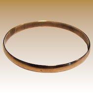 Elegant Solid Copper Bangle Bracelet