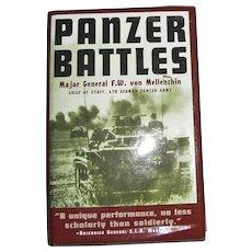 1956, Panzer Battles by Major General F.W. Von Mellenthin, 1st Ed, HCDJ, WWII