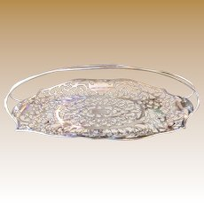 For H, Final MARKDOWN, Antique Silver Quadruple Plated Bread Basket, Apollo Silver Company