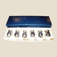 Vintage Sterling Silver Salt & Pepper Shakers in Original Box