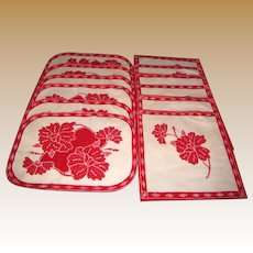 12 Piece Cotton Batik Placemat & Napkin Sets