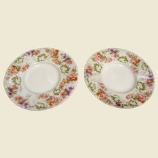 """Two 5 1/8"""" French Limoges Plates by J Pouyat"""