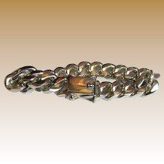 "Men's 134 gm 9"" Sterling Cuban Curb Bracelet"