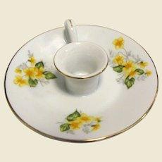 Pretty Porcelain Primrose Design Candleholder