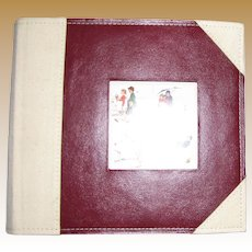 Norman Rockwell, Leather Photo Album, Wedding or Family Photographs, Like New