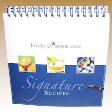 Signature Recipes Cookbook by Five Star's Community Chefs, Soft Cover Ring Bound, Like New