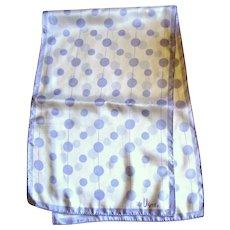 "Vera 44"" by 14"" Lavender Dot Polyester Scarf"