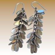"""Sterling & Silvertone 2"""" Fringe Earrings"""