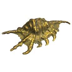 Solid Cast Brass Seashell Paperweight Sculpture
