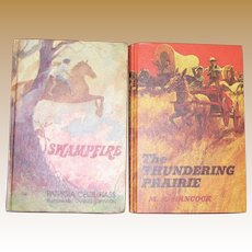 Swampfire by Patricia Cecil Hass (1973, HC) & The Thundering Prairie by Mary A. Hancock (1969 HC), Children Books (both 1st Editions)