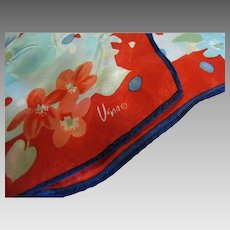 "Vibrant Vera 50"" Long Silk Floral Scarf"