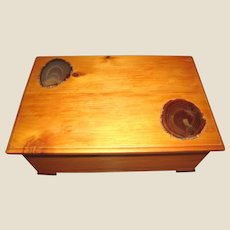 Large Hand Made Specimen Keepsake Box w/ Cut Agate Inserts