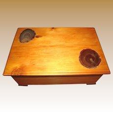 Large Hand Made Specimen Keepsake Box w/ Cut Agate Inserts