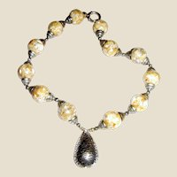 """Runway Confetti Lucite 20"""" Necklace w/ Sterling Clasp"""
