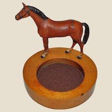 Vintage Horse Motif Trinket Tray, Equestrian Collectible