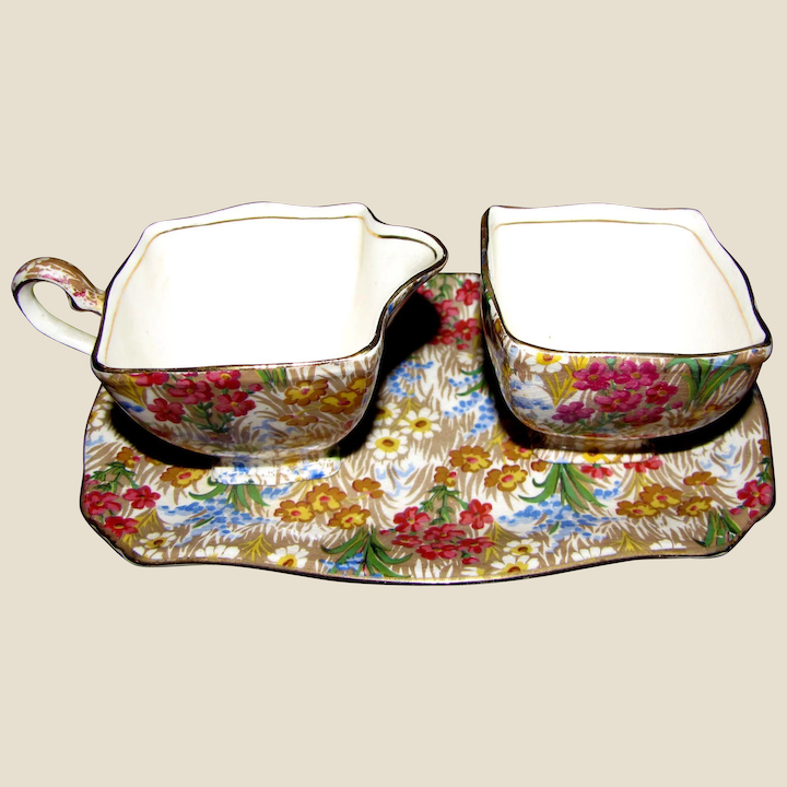 Royal Winton Grimwades Chintz serving Dish with Handle