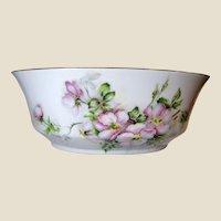 """Vintage Andrea Sadek Floral Hand Painted 9"""" Centerpiece Bowl"""