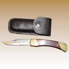 Schrade LB7 Lockback Serial #R40818 with Original Sheath, Made in USA, Like New