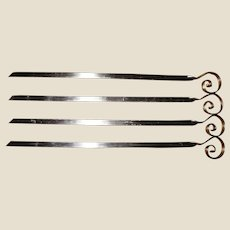 "4 Stainless Shish Kebab 17"" Skewers w/ Insulating Handles"