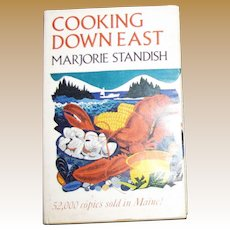 1969, Cooking Down East by Marjorie Standish, 1st edition, 11th printing, HCDJ